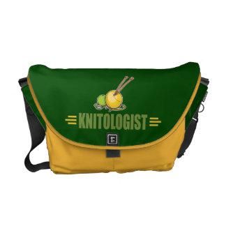 Humorous Knitting Messenger Bag