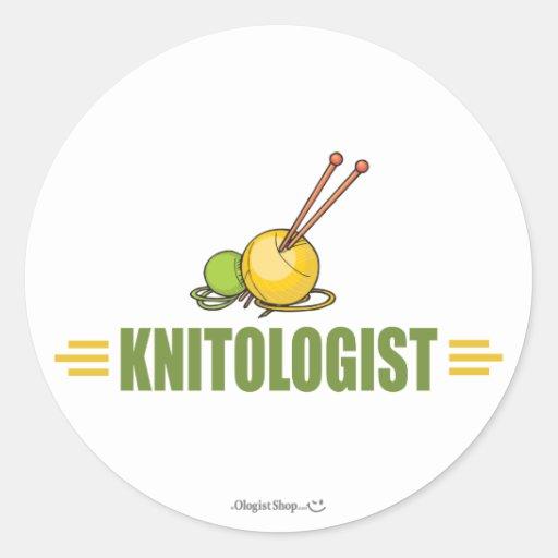 Humorous Knitting Sticker