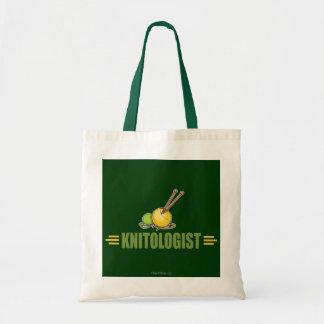 Humorous Knitting Tote Bag