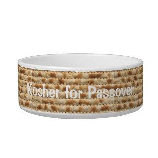 Humorous Kosher for Passover Matzah Food Bowl Cat Water Bowl