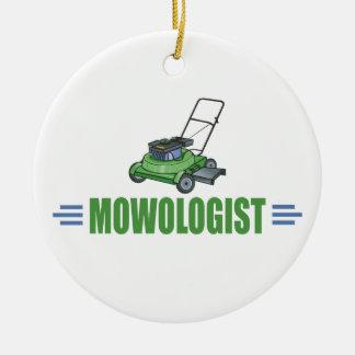 Humorous Lawn Mower Ceramic Ornament