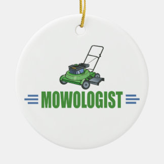 Humorous Lawn Mower Christmas Tree Ornaments