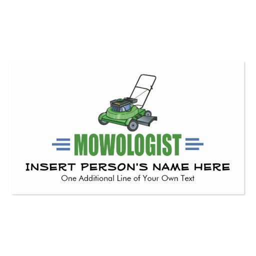Humorous lawn mowing double sided standard business cards for Mowing business cards