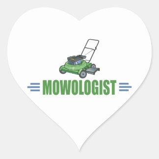 Humorous Lawn Mowing Heart Sticker