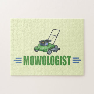Humorous Lawn Mowing Jigsaw Puzzle