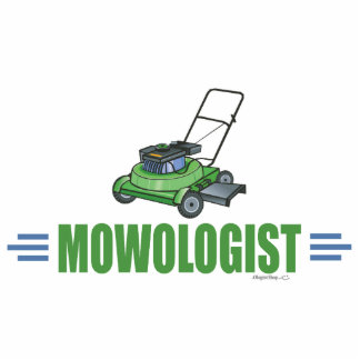 Humorous Lawn Mowing Photo Cutout