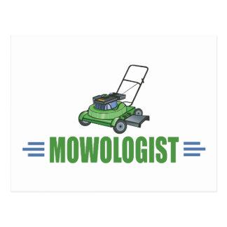 Humorous Lawn Mowing Postcard