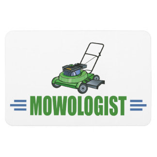 Humorous Lawn Mowing Rectangle Magnets