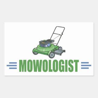 Humorous Lawn Mowing Rectangular Sticker
