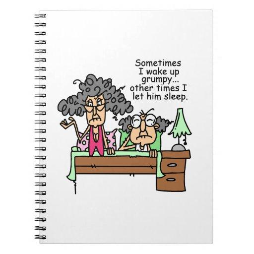 Humorous Let Grumpy Sleep Note Book