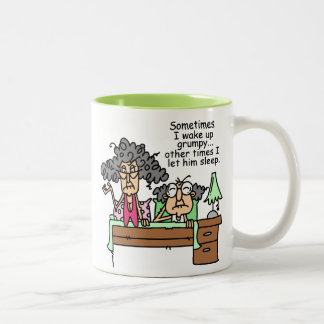 Humorous Let Grumpy Sleep Two-Tone Coffee Mug