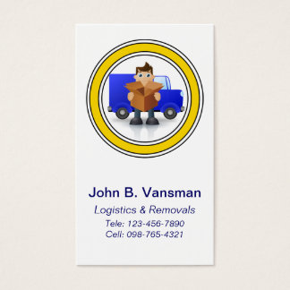 Humorous Logistics or Removals Company Business Card