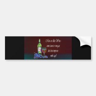 Humorous 'Men are like Wine' Modern Wine Art Gifts Bumper Sticker