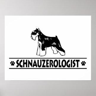 Humorous Miniature Schnauzer Poster