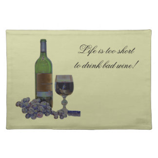Humorous Modern Wine Art American MoJo Placemats