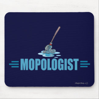 Humorous Mop Mopping Mouse Pad