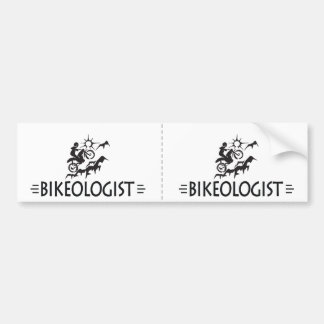 Humorous Mountain Biking Bumper Sticker