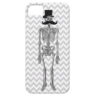 Humorous Mustache on Skeleton Grey iPhone Case