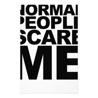 Humorous Normal People Scare Me Black T-Shirt png Stationery