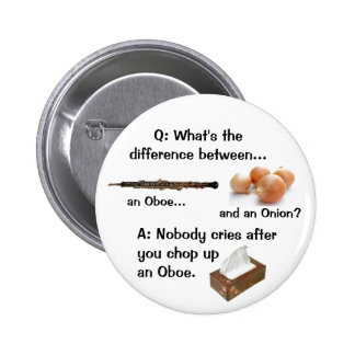 Humorous Oboe Joke Button