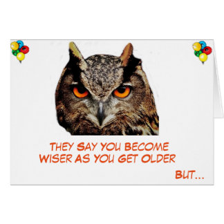 Humorous 'Older But Wiser' Birthday Card