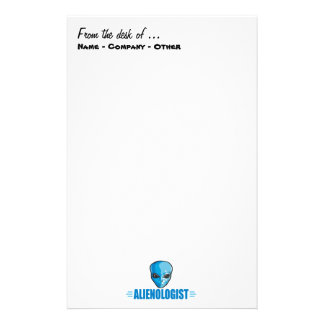 Humorous Outer Space Aliens Stationery