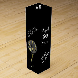 Humorous Over The Hill Birthday Wine Box