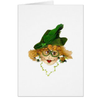 Humorous Pantyhose Queen Greeting Card