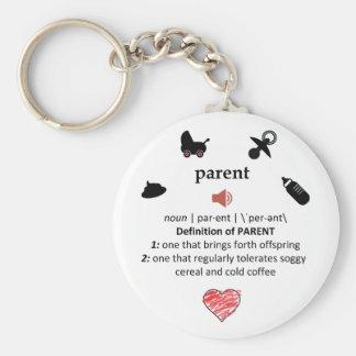 Humorous Parent Definition Keychain