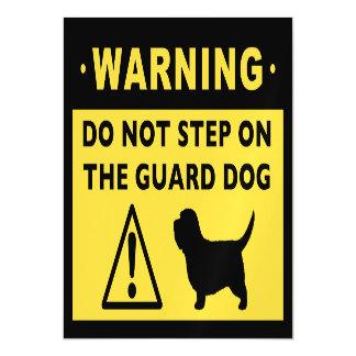 Humorous PBGV Guard Dog Warning Magnetic Card