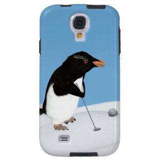 Humorous Penguin Playing Golf Customizable Galaxy S4 Case