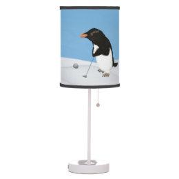 Golfer golf table pendant lamps zazzle humorous penguin playing golf table lamp aloadofball Choice Image