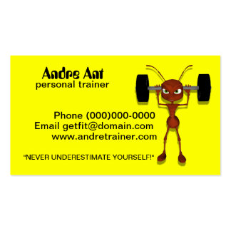 Humorous Personal Trainer Business Cards