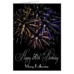 Humorous Personalized Fireworks 50th Happy Birthda Greeting Card