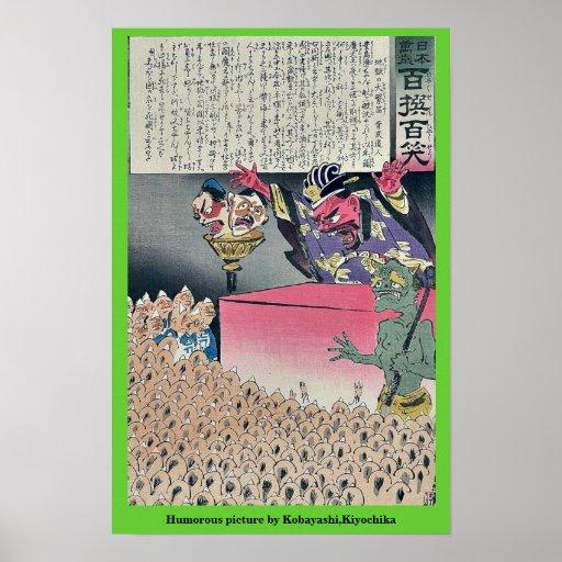 Humorous picture by Kobayashi,Kiyochika Print