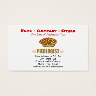 Humorous Pie Bakery Business Card