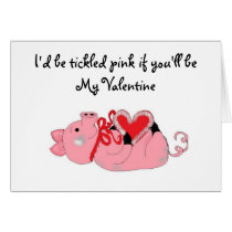 Humorous Piggy Valentine Card