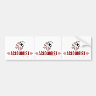 Humorous Playing Cards Car Bumper Sticker