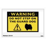 Humorous Pomeranian Guard Dog Warning Wall Graphics