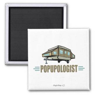 Humorous Pop Up Camper Fridge Magnet