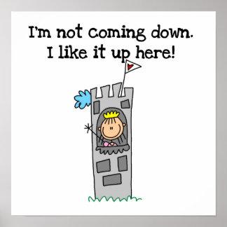 Humorous Princess in Tower Poster