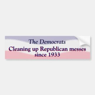 Humorous Pro Democratic Party  Sticker Car Bumper Sticker