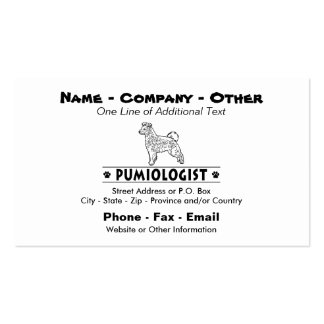 Humorous Pumi Dog Double-Sided Standard Business Cards (Pack Of 100)