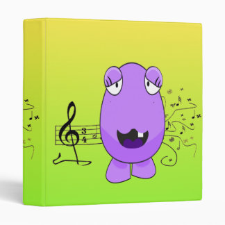 Humorous Purple Monster Singing Off Key 3 Ring Binder