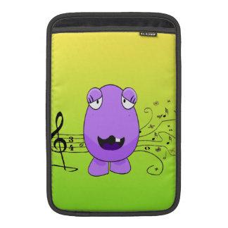 Humorous Purple Monster Singing Off Key MacBook Sleeves