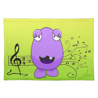 Humorous Purple Monster Singing Off Key Place Mat