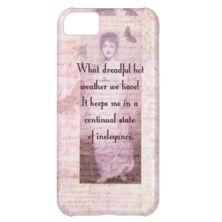 Humorous quote by Jane Austen Cover For iPhone 5C