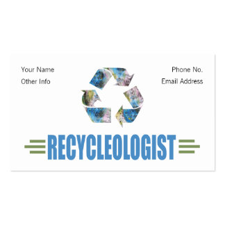 Humorous Recycling Double-Sided Standard Business Cards (Pack Of 100)