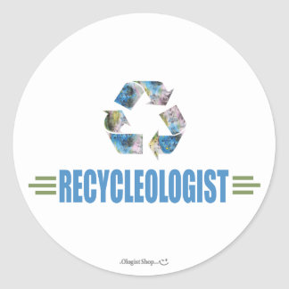 Humorous Recycling Classic Round Sticker