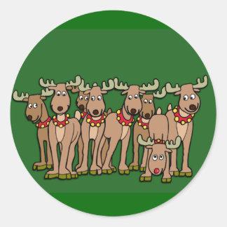 Humorous Reindeer Cards or Stickers